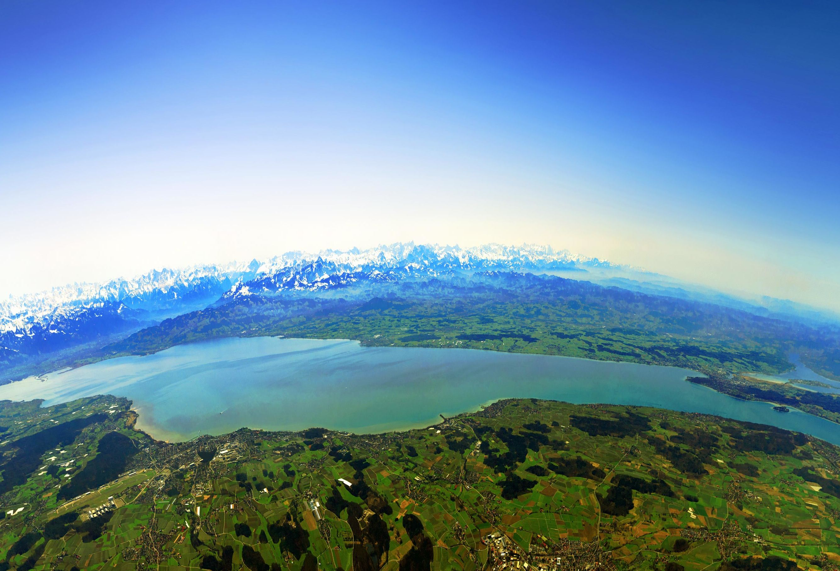 Aerial view of Lake Constance
